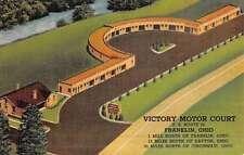 Franklin Ohio Victory Motor Court Birdseye View Antique Postcard K49864