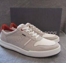 ECCO Jack Wild Dove White Leather Tie Sneaker Shoes US 10 - 10.5 M EUR 44 N