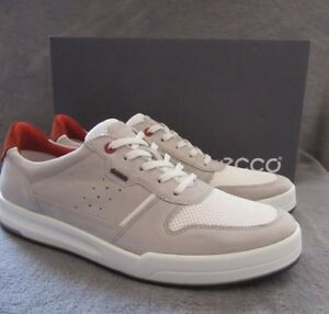 ECCO Jack Wild Dove White Leather Tie Sneaker Shoes US 10 - 10.5 M EUR 44 NWB