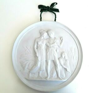 Royal Copenhagen Bisque Porcelain 4 Seasons Wall Plaque Summer &  Autumn 35cm