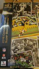 NFL Super Bowl 50 On the Fifty Commemorative 2016 Wall Calendar Sealed New!