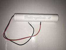 Pacco Batteria Lampada Emergenza Ni-Cd 3.6v 4.000mAh con uscita cavi liberi