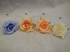 Fabric Rose For Wedding bridal Crown & Craft DIY 4colour choices 8cm each rose