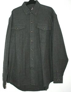 """Mens Guide Gear Shirt ( American Brand ) Grey Heavy Flannel L Pit-Pit 24"""""""