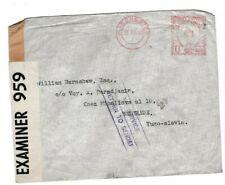 GB 1940 PC 90 CENSOR LABEL COVER TO YUGOSLAVIA NO SERVICE RETURN TO SENDER 66*