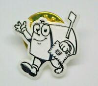 Mailbox holding mail cartoon Retro Vintage Lapel Pin