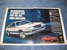 """1980 Ford Mustang Vintage 2pg Ad """"Introducing A Sports Car for the 80's"""" Notch"""