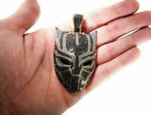 4.50Ct Round Cut Diamond Black Panther Pendant Lucky 14k White Gold Over
