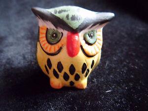 Cute little brightly coloured ceramic owl ornament