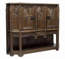 FRENCH GOTHIC REVIVAL CARVED WALNUT CABINET SIDEBOARD 19TH Century ( 1800s )