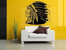 Wall Room Decor Art Vinyl Sticker Mural Decal Native American Indian Big AS1549