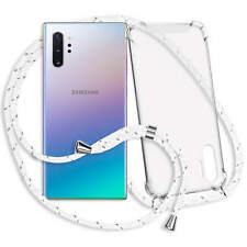 Handykette Band Schutzhülle für Samsung Galaxy Note 10 Plus (SM-N975)- weiß/grau