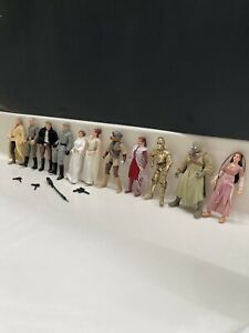 Vintage 1996-1998 Star Wars Action Figure Lot 11 Figures 4 Weapons