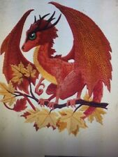 DRAGON AUTUMN NEW UNIQUE TOWELS BATHROOM HAND WASH KITCHEN EMBROIDERED BY LAURA