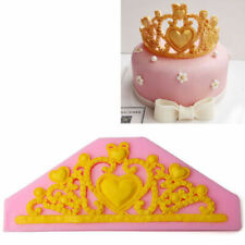 Lace Princess Crown Silicone Fondant Mold Cake Decor Mold Chocolate Baking Tool
