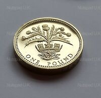 "1989 U.K. Royal Mint proof £1 coin ""Scottish Thistle"" one pound coin"