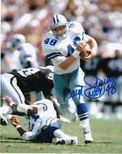 "Daryl Johnston Dallas Cowboys ""Moose"" Action Signed 8x10"