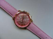 OFERTA MUY ELEGANTE Geneva ORO Y ROSA CARAS Reloj de cuarzo correa rosa OFERTA