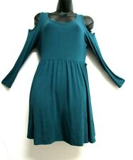 ASOS Petite Cold Shoulders Short Dress Petite Womens Size 10 Turquoise or Teal