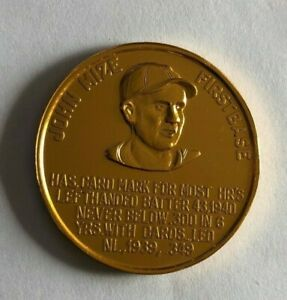 1966 St Louis Cardinals Busch Immortals Coin  JOHNNY MIZE