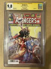 Avengers #1 Signed By Clayton Crain CGC 9.8 [Signature Series]