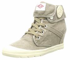 Palladium Wedges CVS Ecuador Womens Grey Ankle Boots High Top Canvas Shoes UK 4