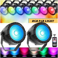 2PCS RGB COB LED DJ Light with Remote DMX Disco Party Wedding KTV Stage Lighting