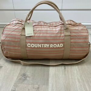 BNWT genuine Country Road woman man unisex canvas CAMEL  tote bag overnight