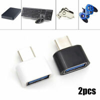 2Pcs Type C USB-C USB 3.1 Male To USB Female OTG Data Adapter For Phone Tablet