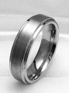 6MM Satin TUNGSTEN CARBIDE comfort fit ring size 10.5 Wedding!