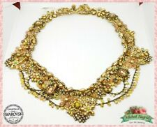 Crown Michal NEGRIN Swarovski Crystals fabric Evening Old collection Israel