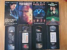 Minority Report + Virtuosity + Dark City + Thirteenth Floor Sci-Fi! Vhs Movies!