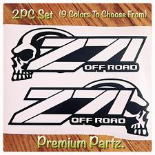 Z71 Off Road Skulls  Decals Body Windshield New 2PC Set 9 Colors Vinyl Silverado