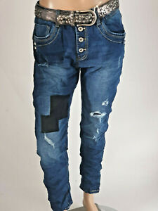 Karostar Nouveau Herbststyle Jeans Baggy Copain Unterlegte Fissures Gr.40-48
