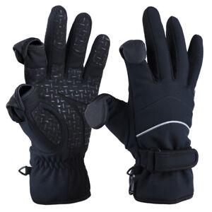 Goture Winter Gloves 2 Cut Finger Touchscreen Waterproof Outdoor Sports Gloves
