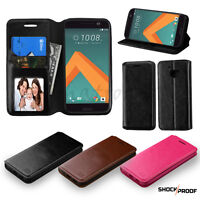 For HTC 10 Flip Leather Case Skin Cover Protective Stand Pouch Fold Card Wallet