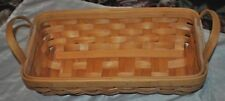 """Country Woven Collection Grand Oblong Basket w/Handles, Maspeth, NY, 14"""" Long"""