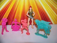 Vintage 80s Girls Toy Lot MOTU Teela Eraser GITD Pegasus CUTIES 80s Minis