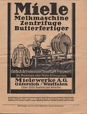 GÜTERSLOH, Anzeige 1929, Miele-Werke AG Melkmaschinen Zentrifugen