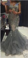 2018 Mermaid Beaded Lace Formal Celebrity Gowns Evening Dress Party Pageant Prom