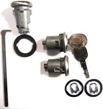 New GM OEM Chrome Doors/Trunk Lock Key Cylinder Set With Keys To Match