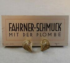 Art Deco Schmuck Ohrclips Ohrringe Clips Silber vergoldet Theodor Fahrner um1930