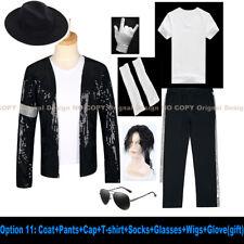 Mj Michael Jackson Coat Billie Jean Jacket & Glove Modern Dance Cosplay Costume