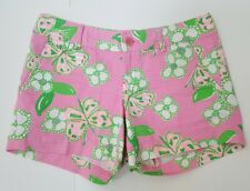 LILLY PULITZER Callahan Shorts Resort Pretty Pink Tootie Butterfly CUTE! Size 2