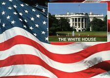 The White House Washington D.C., Home of US President, American Flag -- Postcard