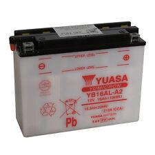 Batterie de moto YUASA YB16AL-A2 12V 16.8AH 210A 207X71.5X164MM ACIDE OFFERT