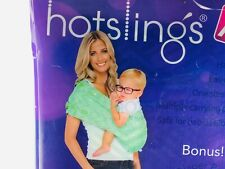 Hotslings Baby Carrier Large infant sling wrap Green White Zodiac 8-35lbs