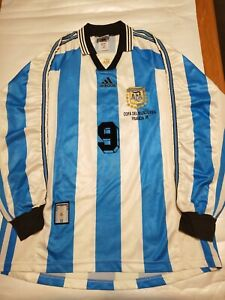 Argentina National Team Batistuta Adidas Jersey 1998 FIFA World Cup Long sleeve