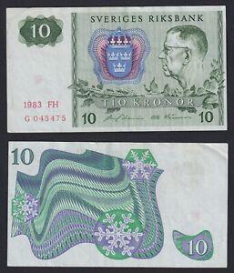 Svezia 10 kronor 1983 SPL-/XF-  B-02