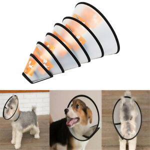 Pet Cat Dog Collar Head Wound Healing Anti-Bite Protective Cover Cone Guard Ring
